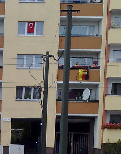 Германско и турско знаме